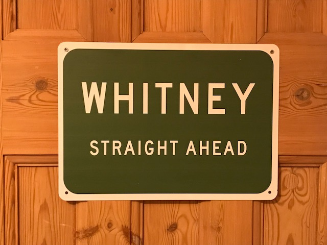 Whitney Straight road sign